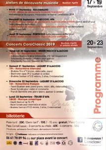Programme  festival CORSICLASSIC 2019