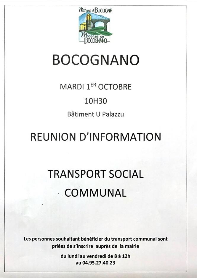 REUNION TRANSPORT SOCIAL COMMUNAL